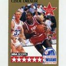 1990-91 Hoops Basketball #016 Clyde Drexler AS - Portland Trail Blazers