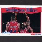 1991-92 Hoops Basketball #300 Washington Bullets