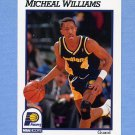 1991-92 Hoops Basketball #090 Micheal Williams - Indiana Pacers