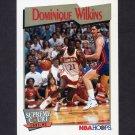 1991-92 Hoops Basketball #449 Dominique Wilkins - Atlanta Hawks