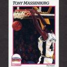 1991-92 Hoops Basketball #437 Tony Massenburg - San Antonio Spurs