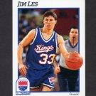 1991-92 Hoops Basketball #428 Jim Les RC - Sacramento Kings
