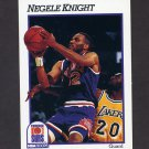 1991-92 Hoops Basketball #418 Negele Knight - Phoenix Suns