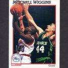 1991-92 Hoops Basketball #415 Mitchell Wiggins - Philadelphia 76ers