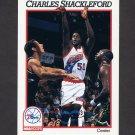 1991-92 Hoops Basketball #414 Charles Shackleford - Philadelphia 76ers