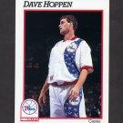 1991-92 Hoops Basketball #411 Dave Hoppen - Philadelphia 76ers