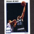1991-92 Hoops Basketball #407 Mark Acres - Orlando Magic