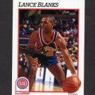 1991-92 Hoops Basketball #361 Lance Blanks - Detroit Pistons