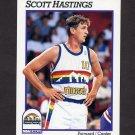 1991-92 Hoops Basketball #358 Scott Hastings - Denver Nuggets