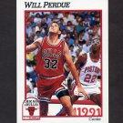 1991-92 Hoops Basketball #345 Will Perdue - Chicago Bulls