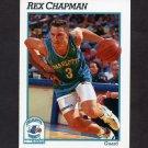 1991-92 Hoops Basketball #019 Rex Chapman - Charlotte Hornets