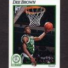 1991-92 Hoops Basketball #010 Dee Brown - Boston Celtics