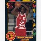 1991-92 Wildcard Basketball #064 Mitchell Anderson - Bradley NM-M