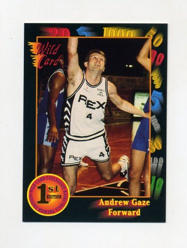 1991-92 Wild Card Basketball #045 Andrew Gaze - Seton Hall