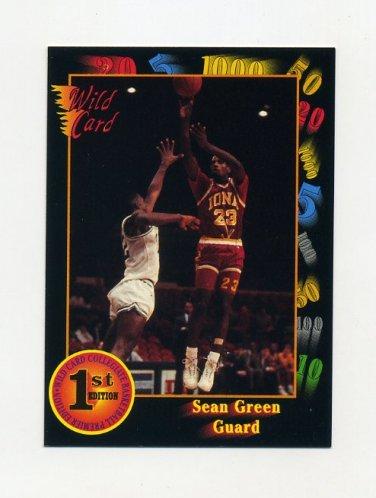 1991-92 Wild Card Basketball #037 Sean Green - Iona