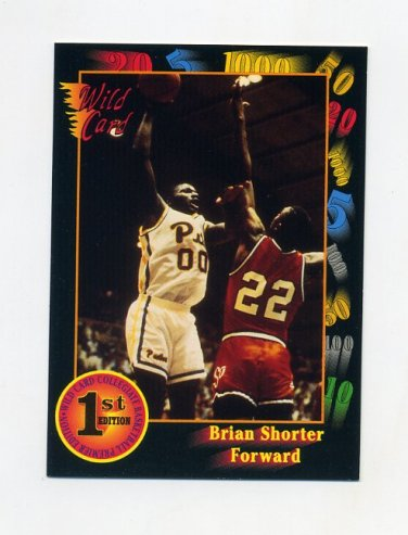 1991-92 Wild Card Basketball #034 Brian Shorter - Pittsburgh