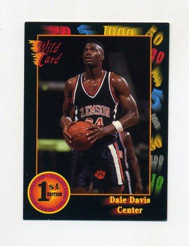 1991-92 Wild Card Basketball #014 Dale Davis - Clemson