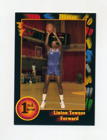 1991-92 Wild Card Basketball #009 Linton Townes - James Madison