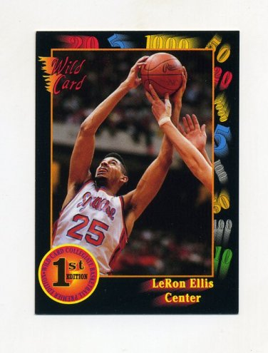 1991-92 Wild Card Basketball #002 LeRon Ellis - Syracuse