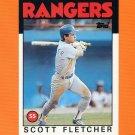 1986 Topps Traded Baseball #036T Scott Fletcher - Texas Rangers