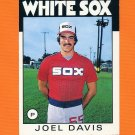 1986 Topps Traded Baseball #030T Joel Davis - Chicago White Sox
