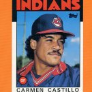 1986 Topps Traded Baseball #021T Carmen Castillo - Cleveland Indians