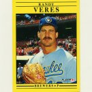 1991 Fleer Baseball #600 Randy Veres - Milwaukee Brewers