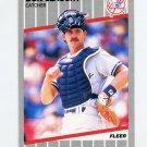 1989 Fleer Baseball #271 Don Slaught - New York Yankees