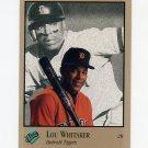 1992 Studio Baseball #180 Lou Whitaker - Detroit Tigers