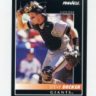 1992 Pinnacle Baseball #063 Steve Decker - San Francisco Giants