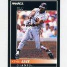 1992 Pinnacle Baseball #053 Kevin Bass - San Francisco Giants
