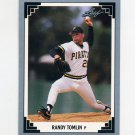 1991 Leaf Baseball #203 Randy Tomlin RC - Pittsburgh Pirates