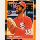 1988 Donruss Baseball's Best #313 Jose Oquendo - St. Louis Cardinals