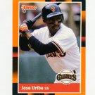 1988 Donruss Baseball's Best #303 Jose Uribe - San Francisco Giants