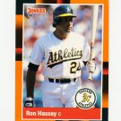 1988 Donruss Baseball's Best #302 Ron Hassey - Oakland Athletics
