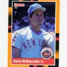 1988 Donruss Baseball's Best #153 Kevin McReynolds - New York Mets