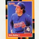 1988 Donruss Baseball's Best #114 Rick Mahler - Atlanta Braves