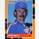 1988 Donruss Baseball's Best #111 Paul Kilgus - Texas Rangers