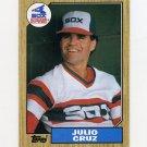 1987 Topps Baseball #790 Julio Cruz - Chicago White Sox ExMt