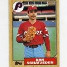 1987 Topps Baseball #789 Dan Schatzeder - Philadelphia Phillies