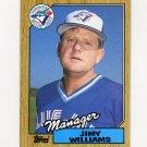 1987 Topps Baseball #786 Jimy Williams MG / Toronto Blue Jays Team Checklist NM-M