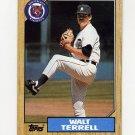 1987 Topps Baseball #072 Walt Terrell - Detroit Tigers