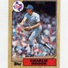 1987 Topps Baseball #070 Charlie Hough - Texas Rangers