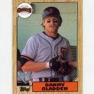 1987 Topps Baseball #046 Dan Gladden - San Francisco Giants