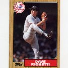 1987 Topps Baseball #040 Dave Righetti - New York Yankees