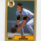 1987 Topps Baseball #035 Sid Bream - Pittsburgh Pirates