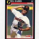 1991 Score Baseball #251 Greg W. Harris - San Diego Padres