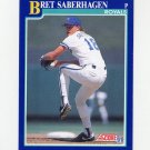 1991 Score Baseball #006 Bret Saberhagen - Kansas City Royals NM-M