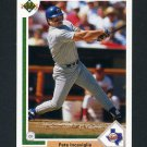 1991 Upper Deck Baseball #453 Pete Incaviglia - Texas Rangers