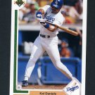 1991 Upper Deck Baseball #166 Kal Daniels - Los Angeles Dodgers